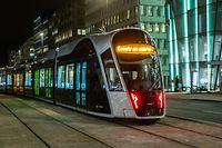 Lok , Testphase Tram , Tram bis zum Bahnhof , Luxtram , Oeffentlicher Transport , bd Royal Foto:Guy Jallay/Luxemburger Wort