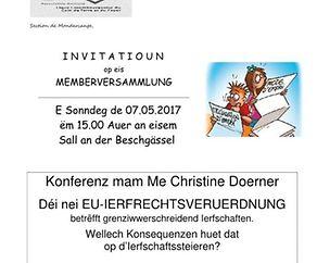 Konferenz mam Me Christine Doerner  - Déi nei EU-IERFRECHTSVERUERDNUNG