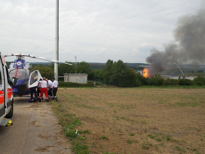 In einer Firma, in der Druckfarben hergestellt werden, brach am Mittwoch ein Brand aus.