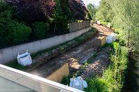 Lok , Hesperingen , Dreimonatige Baustelle unter Brücke , Fahrradwag gesperrt , Foto.Guy Jallay/Luxemburger Wort