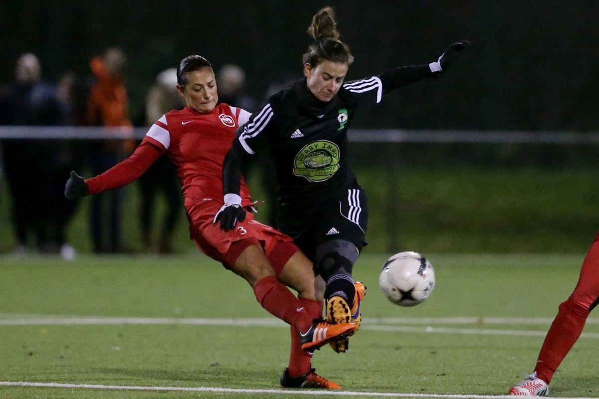 Sandra Valadares tente de stopper Sara Olivieri mais Junglinster va donner une véritable leçon aux Maméroises.