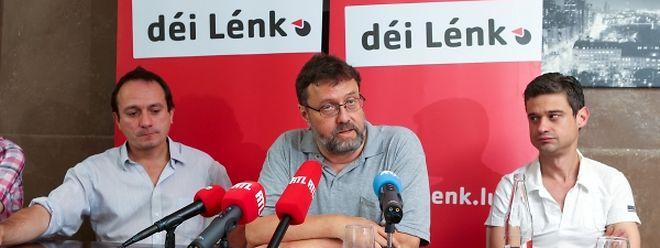 Sie fordern neue politische Kräfteverhältnisse: Marc Baum, Serge Urbany, David Wagner (v.l.n.r).