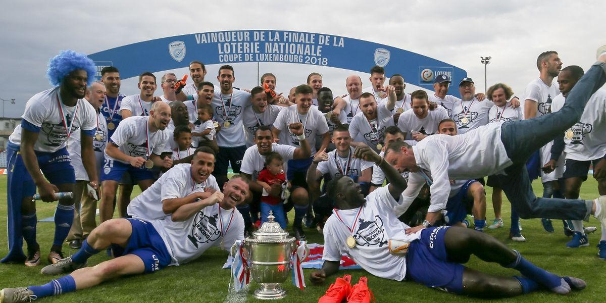 Au terme d'un match à suspense, le Racing peut fêter sa première Coupe de Luxembourg.