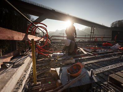 Ein Jahr vor Inbetriebnahme des Funiculaire Pfaffenthal-Kirchberg,Foto:Gerry Huberty