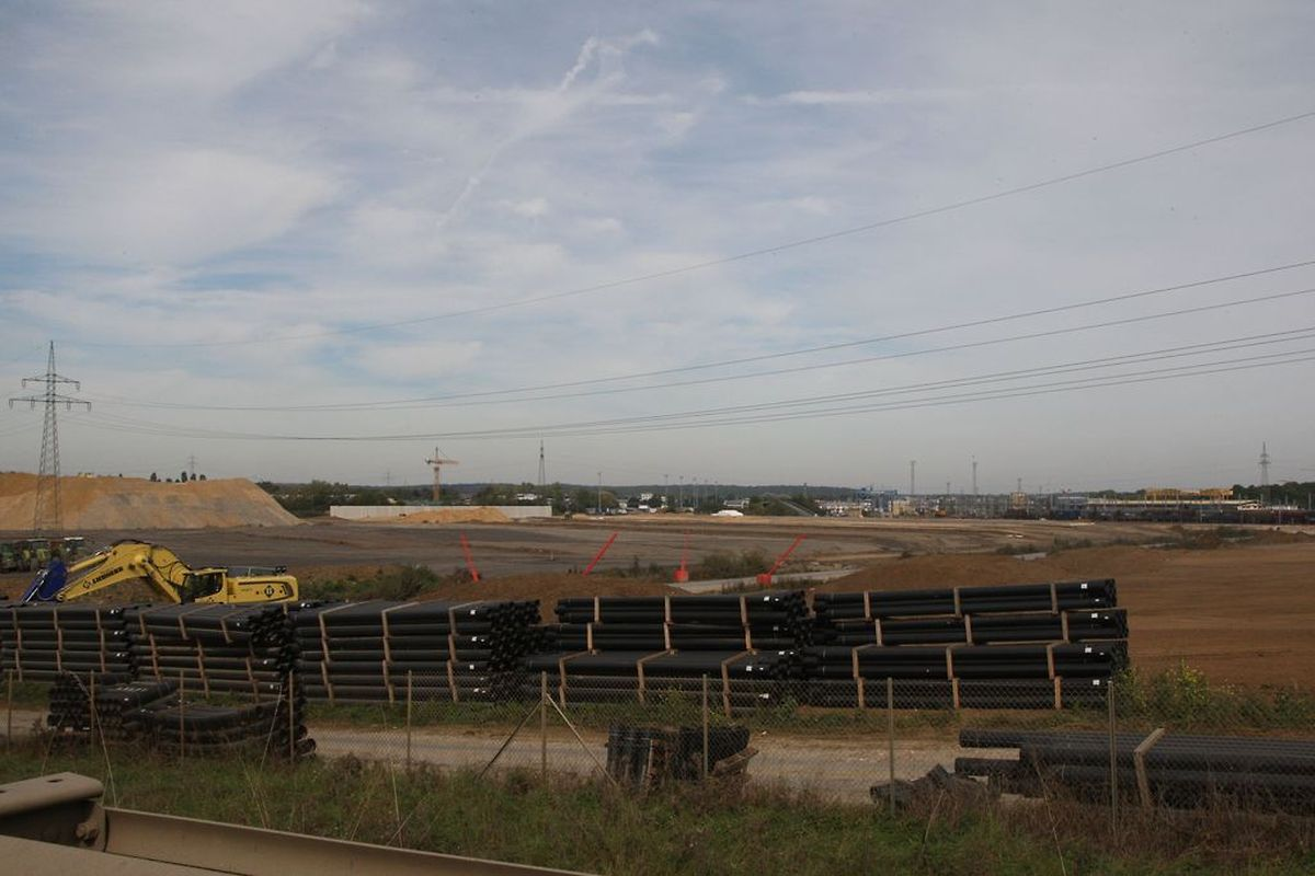Das Gelände, auf dem das Multimodal-Projekt der CFL entsteht, wurde im Bebauungsplan als nationale Industriezone eingestuft.(FOTO: RAYMOND SCHMIT)