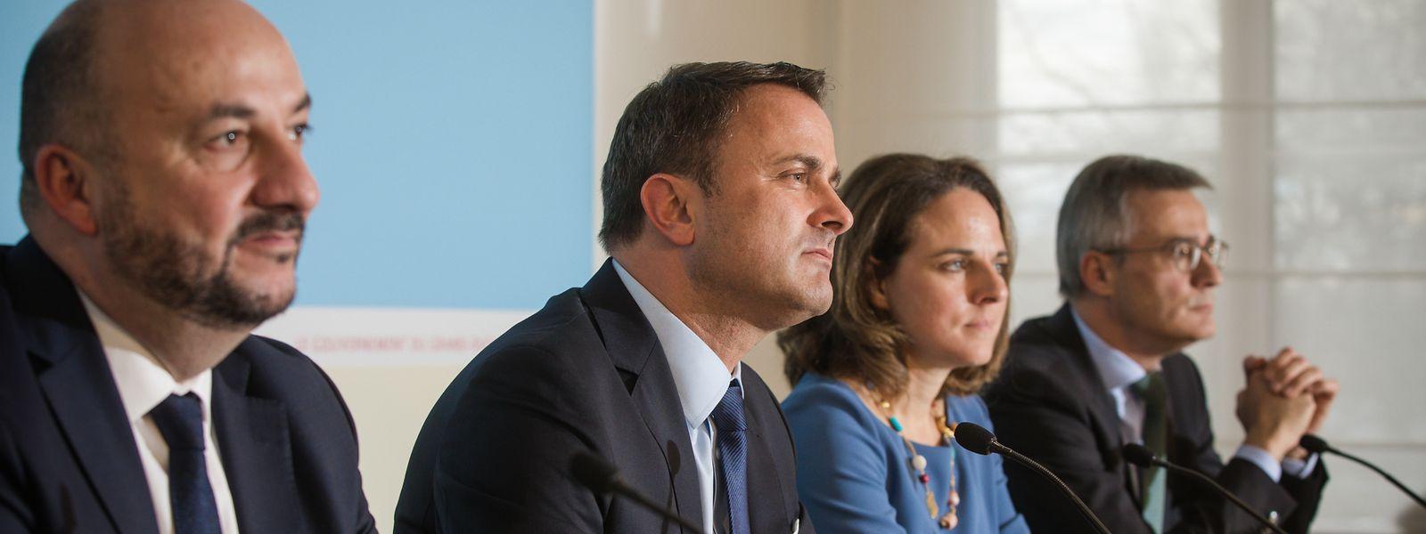 Zusammen mit den Verhandlungsführern von DP, LSAP und di Gréng veröffentlichte Formateur Xavier Bettel am Donnerstag erste Details aus dem Regierungsabkommen.