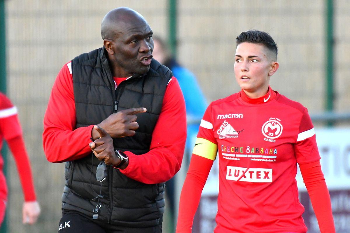 Evariste Kabongo, ici en discussion avec Melody Laurent, a rappelé les fondamentaux du foot.