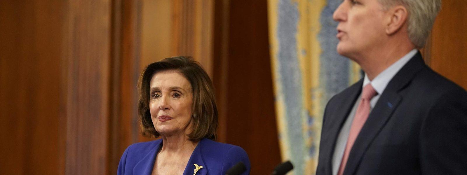 Nancy Pelosi und Kevin McCarthy haben sich seit den Attacken auf das Kapitol zunehmend entzweit.
