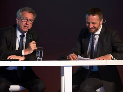 Pierre Gramenga (l.) with KPMG Managing Partner Georges Bock at the presentation on Monday