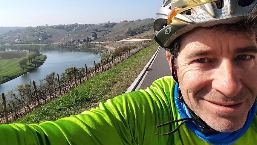 Mike McQuaide a choisi de faire découvrir la Moselle à vélo