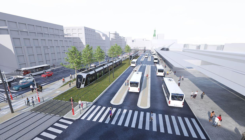 L'arrivée du tram à gare, puis sa connexion vers la Cloche d'Or via Bonnevoie, doit modifier en profondeur l'utilisation actuelle du site.