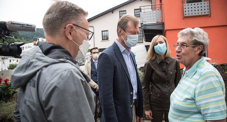 Lokales,Grossherzog besucht Vianden nach der !uberschwemmungskatastrophe.. Foto: Gerry Huberty/Luxemburger Wort