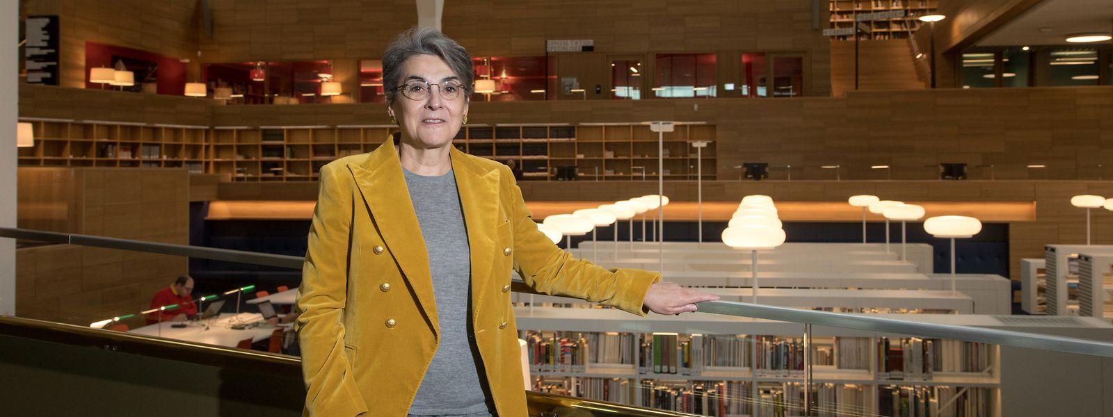 Ihre Amtszeit war geprägt von der Umsetzung des Neubaus: Die scheidende Direktorin der Nationalbibliothek, Monique Kieffer, hat das Projekt eng begleitet. Nun wird ihre Nachfolge gesucht.