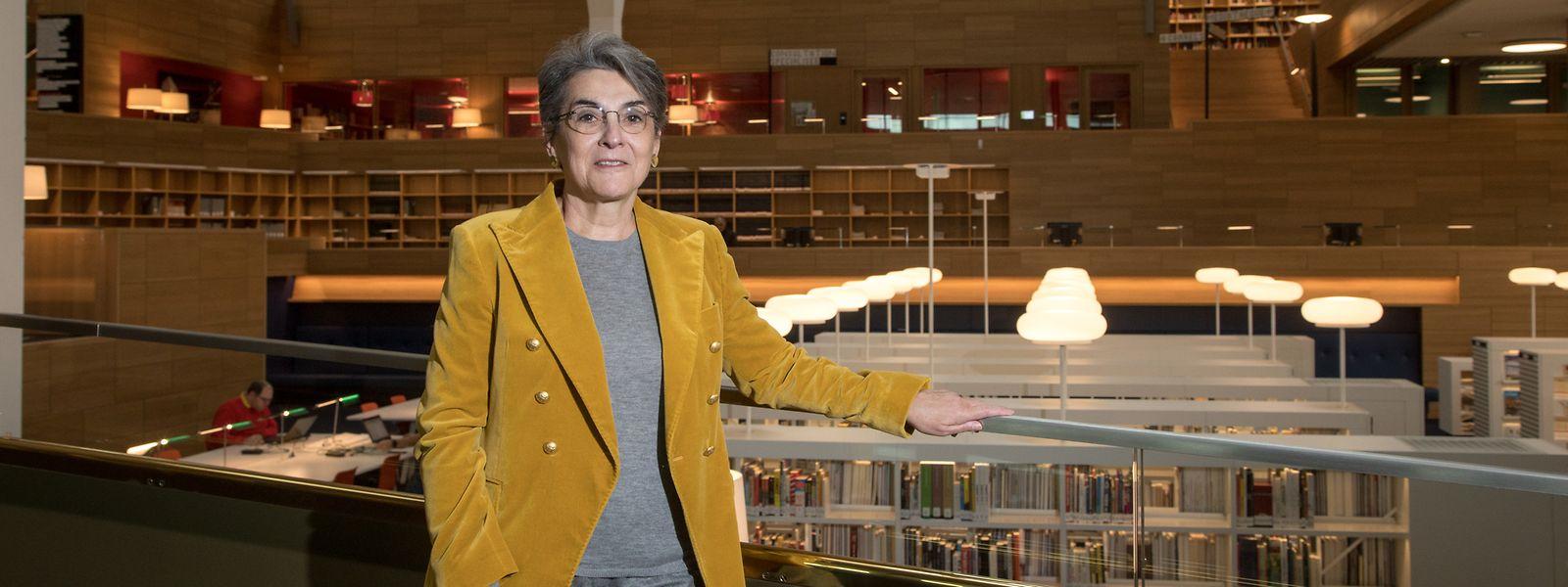 Ihre Amtszeit ist geprägt von der Umsetzung des Neubaus: Die Direktorin der Nationalbibliothek, Monique Kieffer, hat das Projekt eng begleitet.