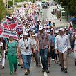 """Im Juli 2014 waren die Sassenheimer Bürger unter dem Motto """"No Way"""" gegen die Umgehung von Niederkerschen auf die Straße gegangen."""