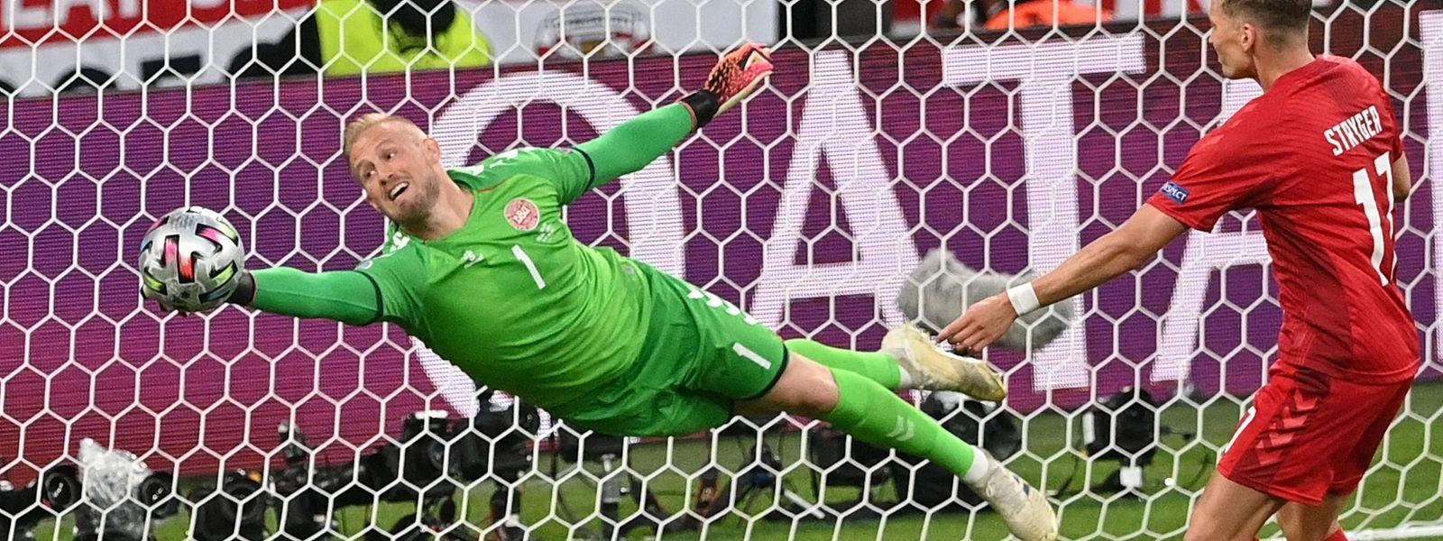Le gardien danois Kasper Schmeichel a sorti le grand jeu, mercredi à Wembley. Cela n'a pas suffi.