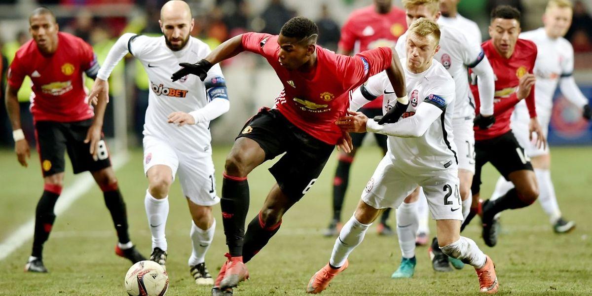 Paul Pogba und Manchester United setzten sich im letzte Gruppenspiel durch.