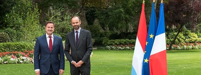 Xavier Bettel au côté d'Edouard Philippe, Premier ministre de la République française