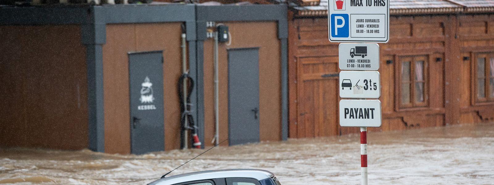 In Ettelbrück hat das Hochwasser großen Schaden angerichtet.