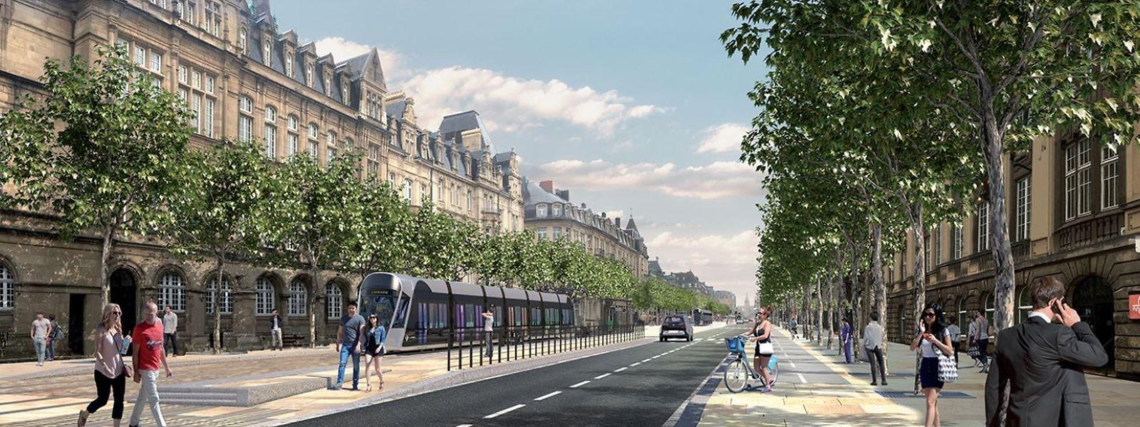 Le tramway devrait traverser la ville vers la gare d'ici 2020.