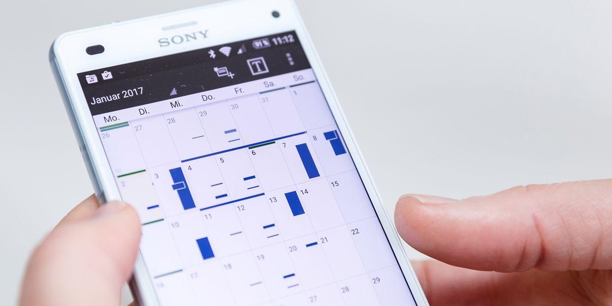 Frei oder verplant: Mit Kalender-Apps hat man die Woche gut im Blick.