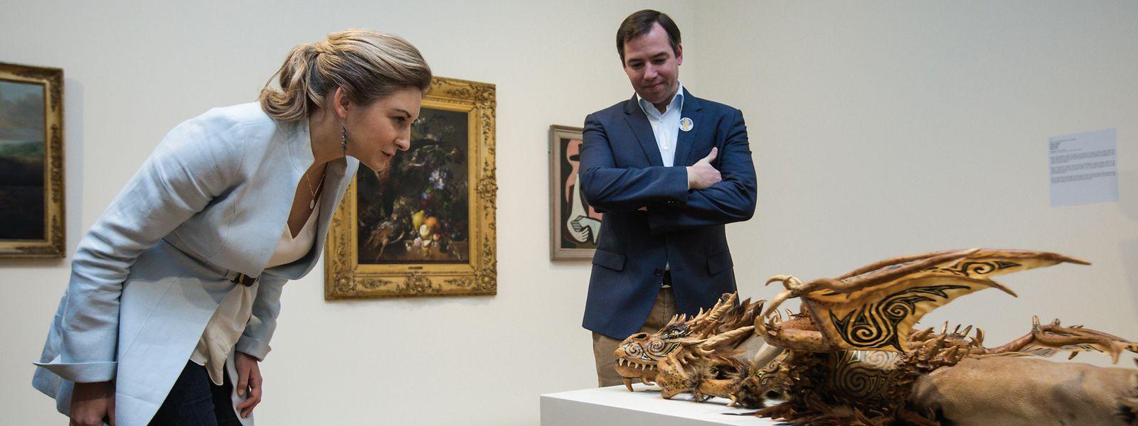 Auf Entdeckungstour: das erbgroßherzogliche Paar in der Villa Vauban.