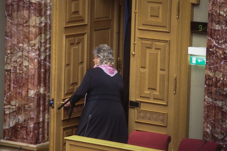 Maggy Nagel verlässt am Mittwoch zum letzten Mal als Ministerin das Plenum der Chamber.