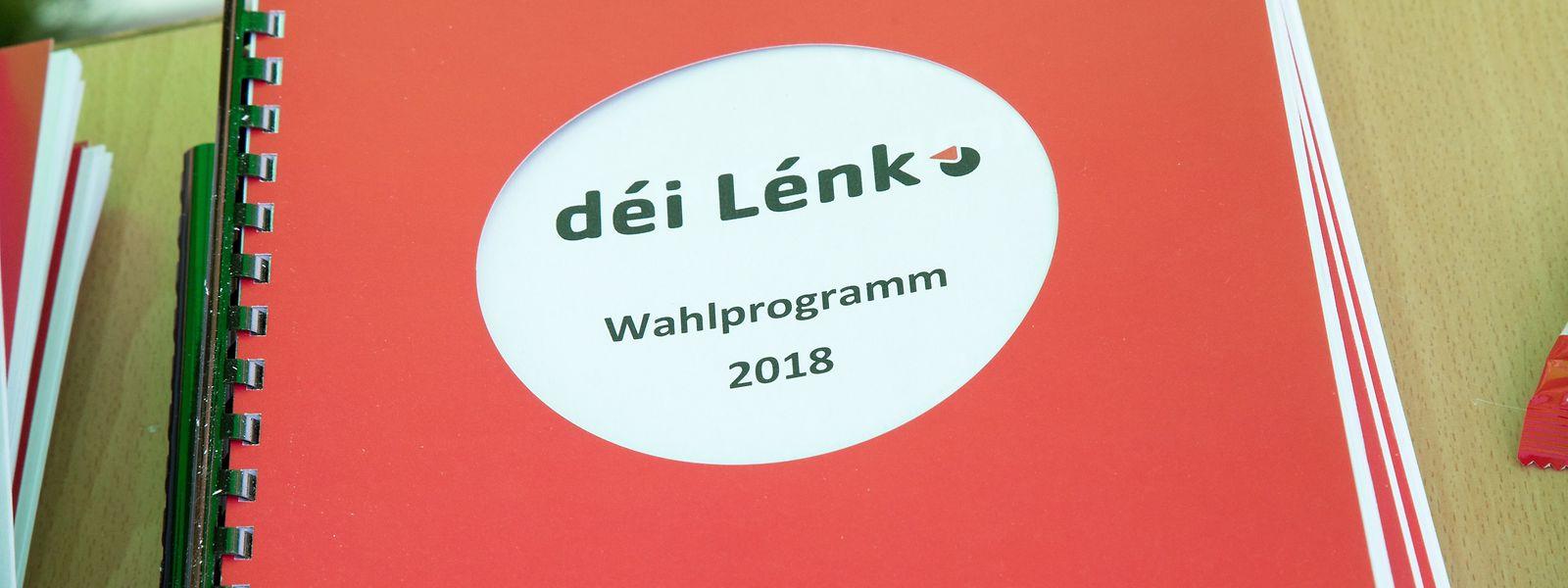 """""""Déi Lénk"""" fordern ein Umdenken in sozialen und ökologischen Fragen."""