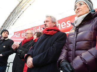 O ministro dos Negócios Estrangeiros, Jean Asselborn, fez parte dos protestos contra o encontro ultra conservador