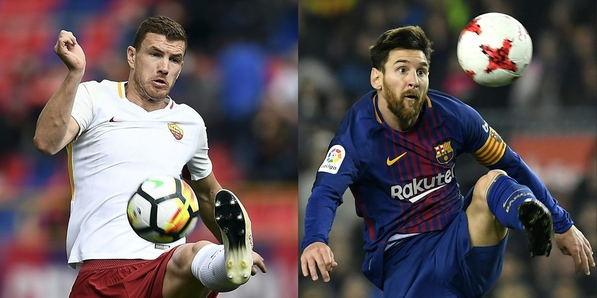 L'AS Rome de Dzeko a-t-elle les arguments pour terrasser le FC Barcelone de Lionel Messi?