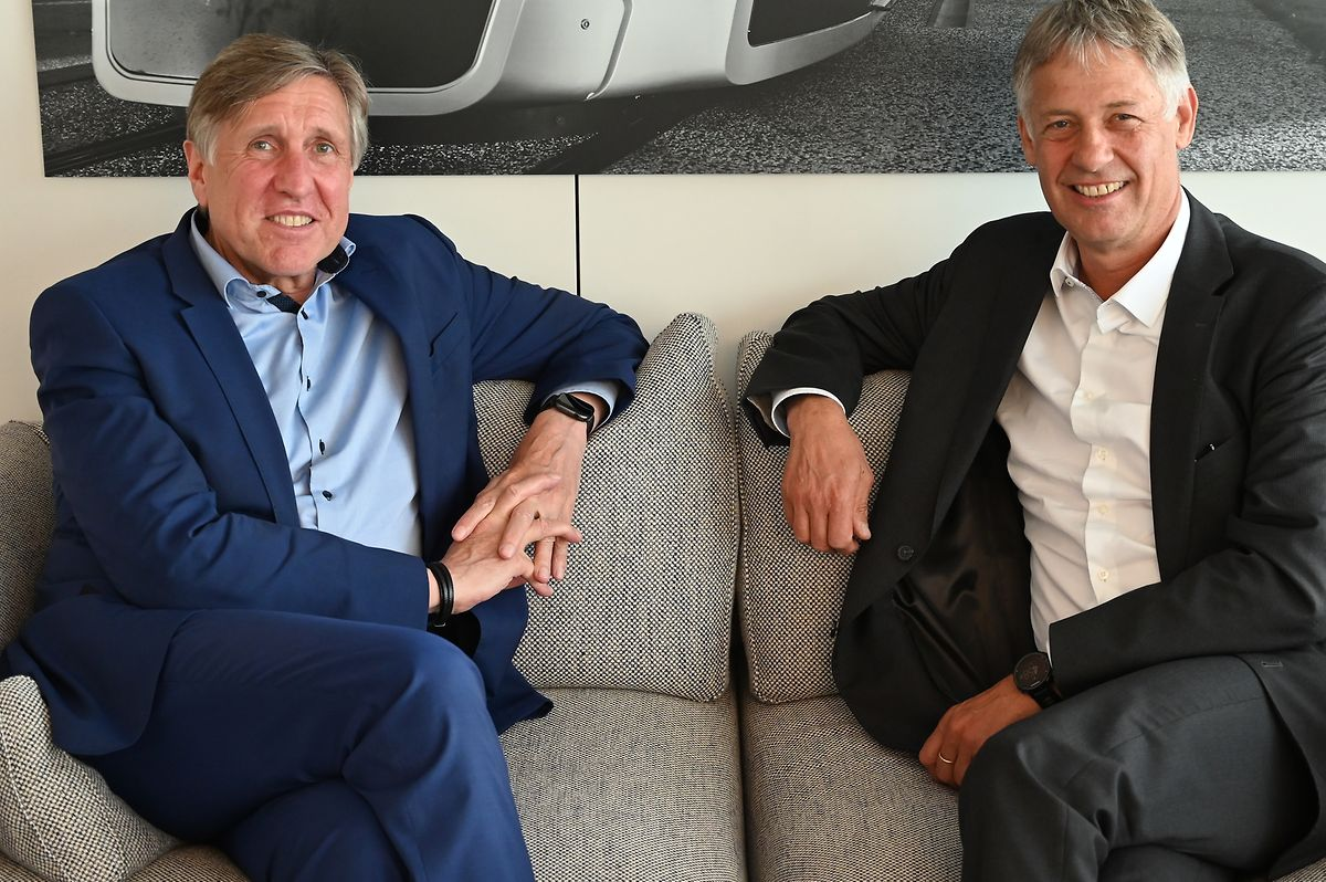 Die beiden grünen Minister François Bausch und Henri Kox.