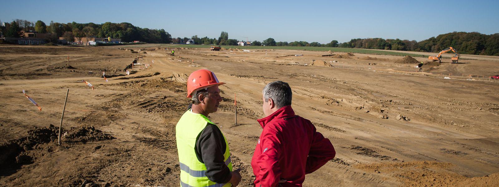 Auf 27 Hektar Land nahe Olm entstehen in den kommenden Jahren rund 750 Wohnungen. Dies in drei Siedlungen, die gemeinsam die neue Ortschaft Elmen bilden werden.