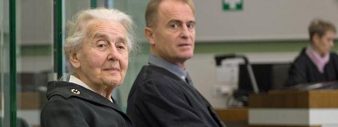 Ursula Haverbeck vor Gericht.