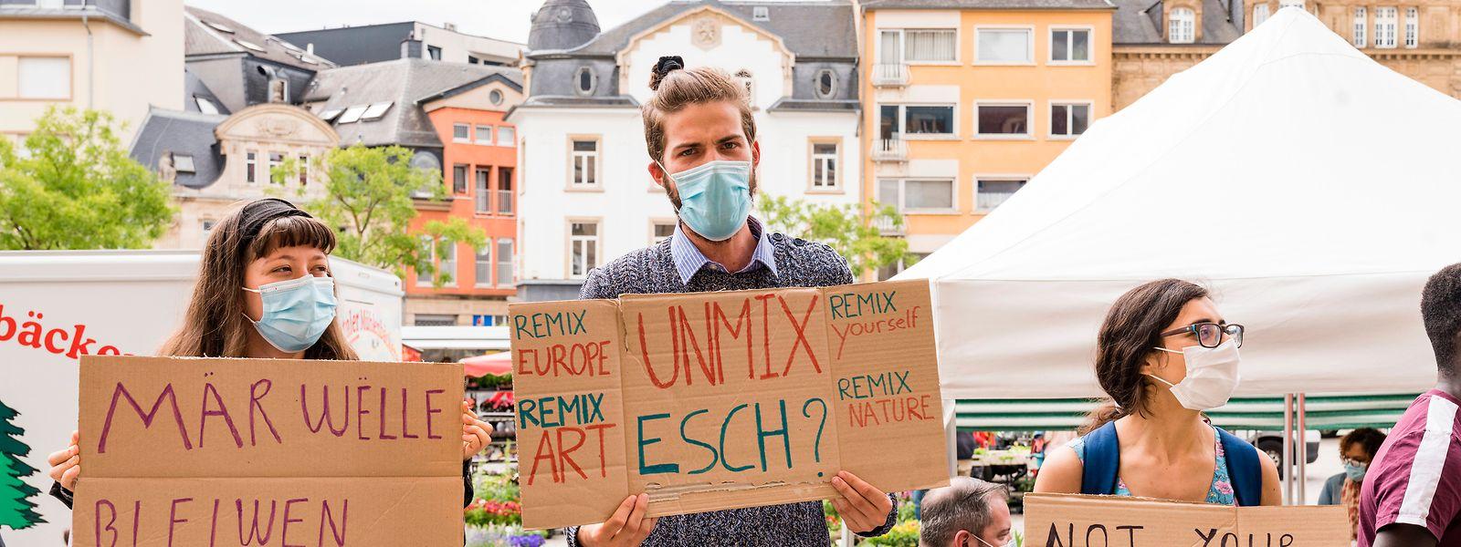 Des résidents et des étudiants ont manifesté leur désaccord avec le nouveau PAG de la Ville d'Esch.