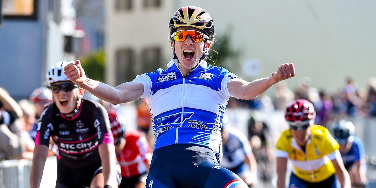 Christine Majerus sichert sich den Etappensieg in Steinfort und übernimmt die Führung in der Gesamtwertung