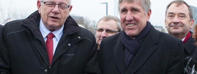 Ici au côté de l'ex-secrétaire d'Etat au Budget Christian Eckert, pour l'inauguration de la liaison Micheville, Francois Bausch s'est dit prêt à accompagner des projets. Pas des chèques en blanc à Paris