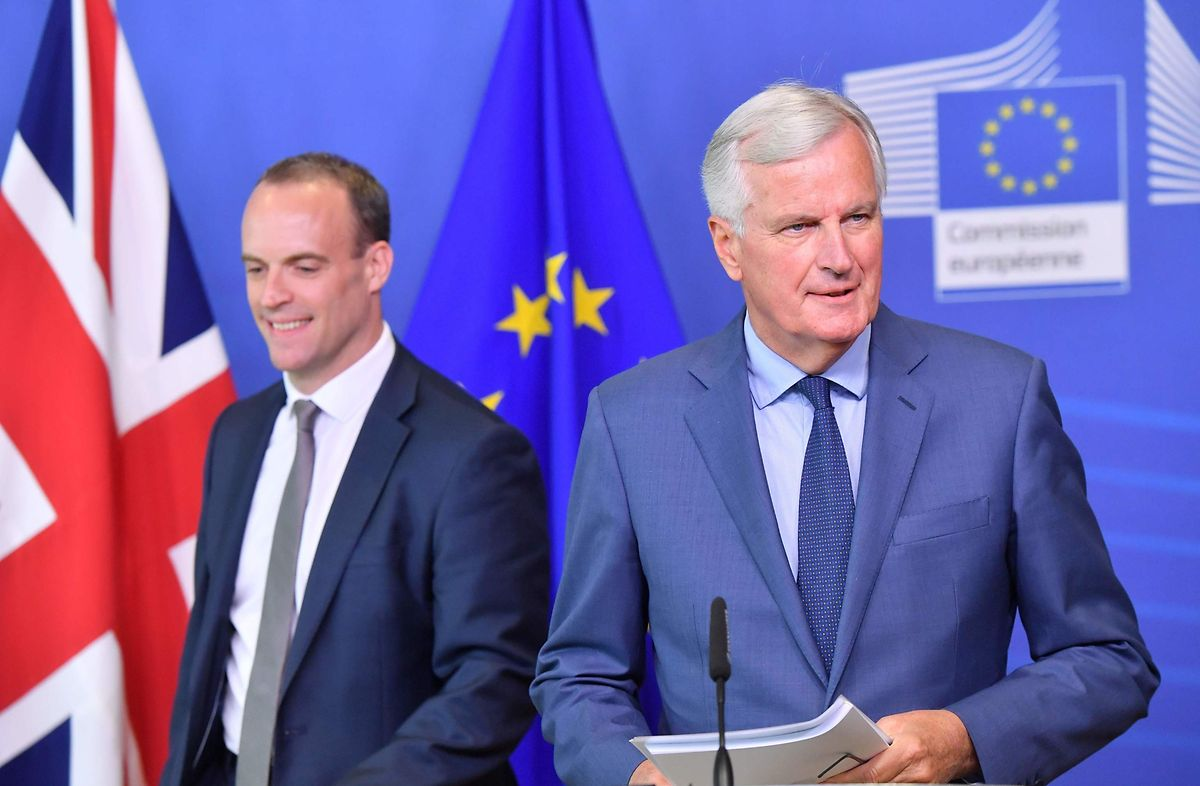 Die Verhandlungen zwischen EU-Chefunterhändler Michel Barnier und dem Brexit Secretary Dominic Raab laufen nur schleppend voran.
