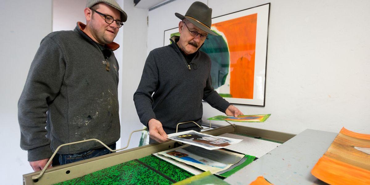 Robert Brandy et Kevin Brandy, tel père quel fils. Foto:Gerry Huberty