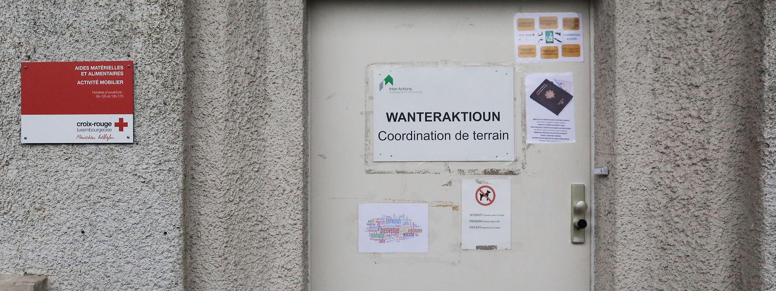 Die graue Stahltür des sogenannten Foyer de jour der Wanteraktioun (WAK) steht Obdachlosen noch bis zum 31. März offen.