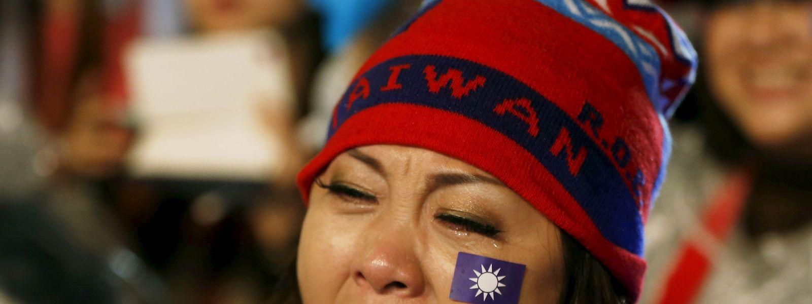 Emotionale Momente der Demokratie in Taiwan.
