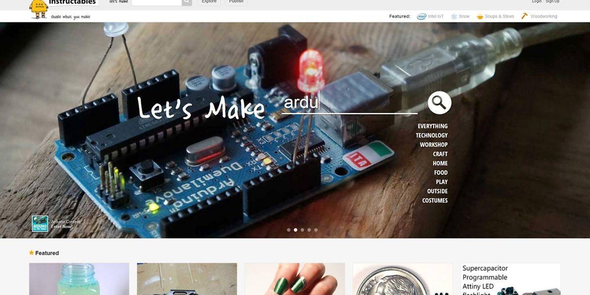"""Basteln mit Computerbauteilen und Ideen für bunte Fingernägel: Auf """"Instructables.com"""" gibt es unzählige Anleitungen für kreative Projekte."""