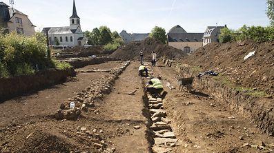 Die Funde wurden gleich gegenüber der Kirche in Contern gemacht.