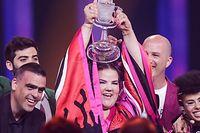 Die israelische Sängerin Netta gewann das Finale des 63. Eurovision Song Contests und bringt das Event somit in ihr Heimatland Israel.