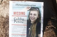 NORTH PORT, FL - SEPTEMBER 20: A makeshift memorial dedicated to missing woman Gabby Petito is located near the North Port City Hall on September 20, 2021 in North Port, Florida. A body has been found by authorities in Wyoming who believe it fits the description of Gabby Petito who went missing while on a cross country trip with her boyfriend Brian Laundrie.   Octavio Jones/Getty Images/AFP == FOR NEWSPAPERS, INTERNET, TELCOS & TELEVISION USE ONLY ==