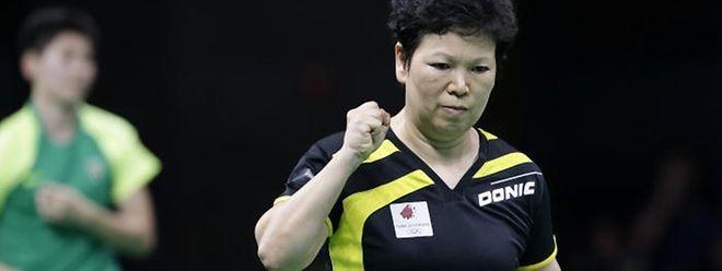 Weiter, immer weiter: Ni Xia Lian trifft im Achtelfinale auf Kristin Silbereisen.