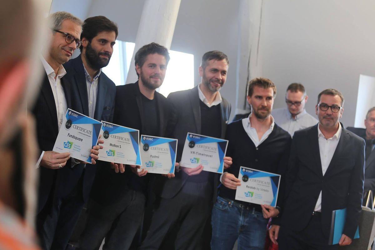 Die Vertreter der Start-ups, die an der CES teilnehmen werden.
