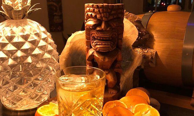 Serving up cocktails in Dudelange, using unusual plantation rum