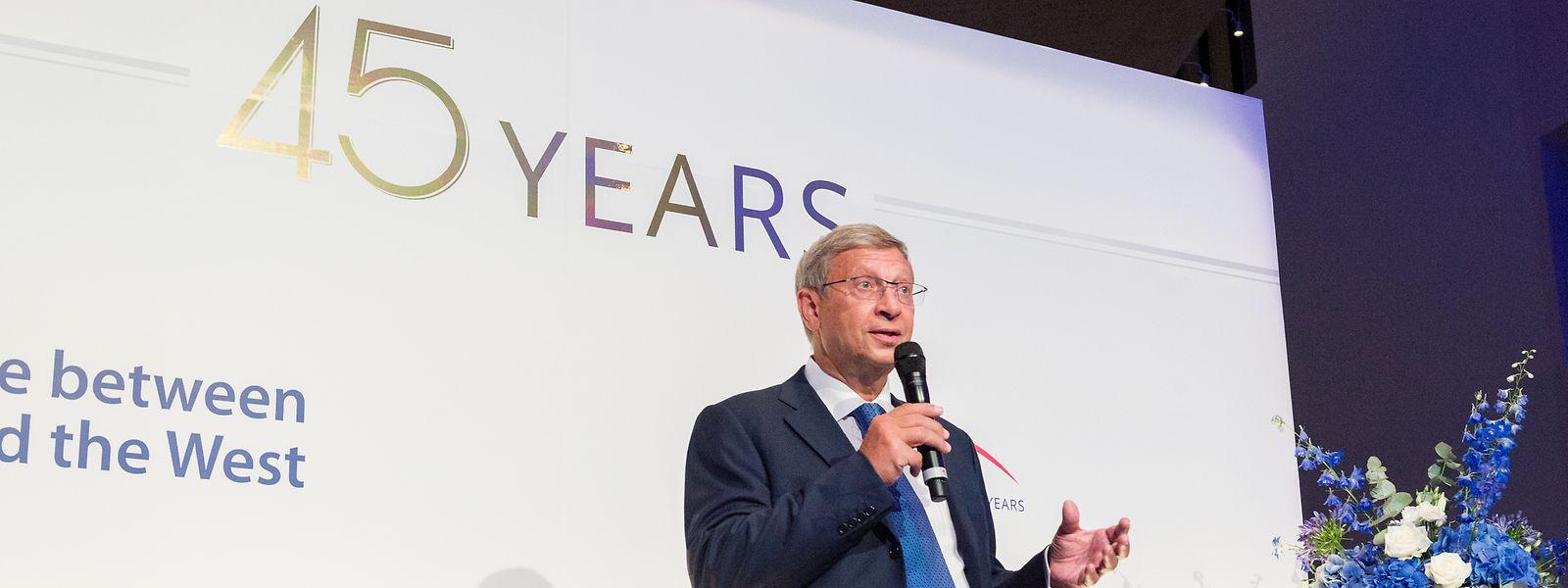 Wladimir Jewtuschenkow gründete den Konzern Sistema, dem die East-West United Bank gehört.