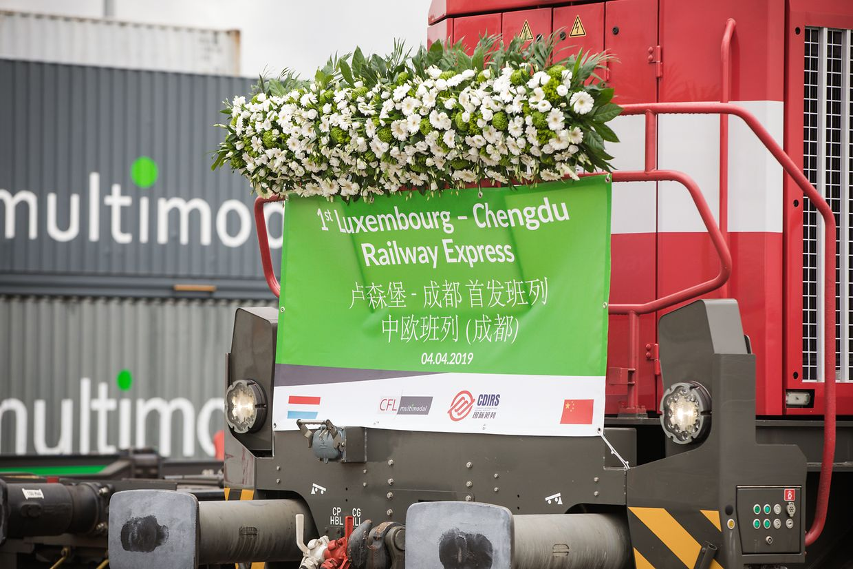Einweihung Zuglinie  - Bettembourg-Chengdu China railway Express - Foto : Pierre Matgé/Luxemburger Wort