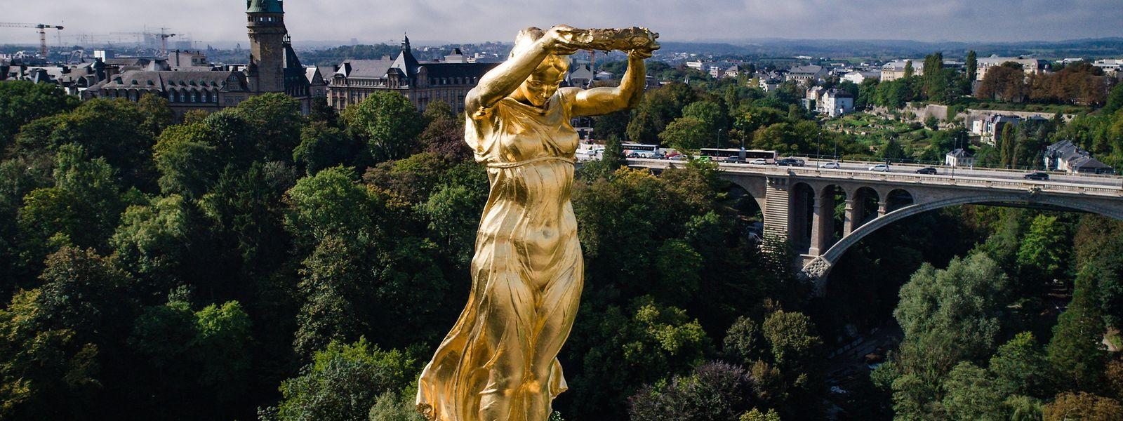 Die Gëlle Fra steht für die Unabhängigkeit des Landes.